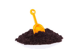 Gardening tools with soil Royalty Free Stock Photos
