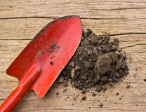 Gardening tools and soil Stock Photos