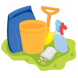 Gardening Tools. Some of the equipment used for gardening purposes Vector Illustration