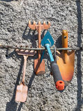Gardening tools. Some gardening tools on a wall Stock Image