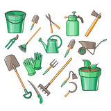 Gardening Tools Vector Illustration Set Royalty Free Stock Photography