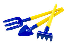 Gardening tools on white Royalty Free Stock Photography