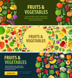 Gardening vector logo. food or fruits, vegetables Royalty Free Stock Image