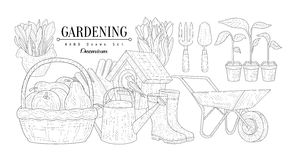 Gardening Vintage Sketch Royalty Free Stock Photography