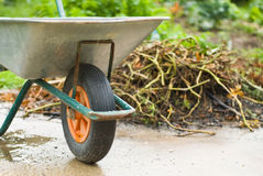 Gardening wheelbarrow Stock Images