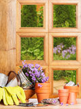 Gardening Window Royalty Free Stock Photos