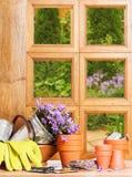 Gardening Window Royalty Free Stock Photos