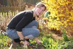 Gardening woman Stock Photo