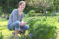 Gardening woman Stock Photo