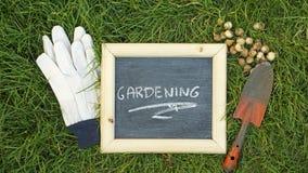 Gardening written Stock Image
