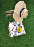 Gardenlife - calm day reading magazines Stock Image