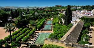Gardens of Alcazar of the Christian Monarchs, Cordoba, Spain Stock Image