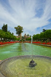 Gardens at  Alcazar, Cordoba, Spain Royalty Free Stock Images