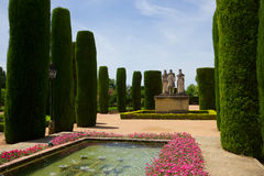 Gardens at the Alcazar in Cordoba, Spain Royalty Free Stock Photo