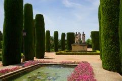Gardens at the Alcazar in Cordoba, Spain Royalty Free Stock Photo