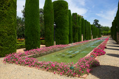 Gardens at the Alcazar in Cordoba, Spain Stock Images
