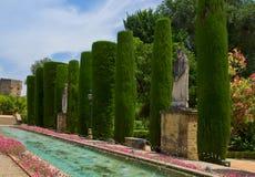 Gardens at the Alcazar in Cordoba, Spain Stock Photo