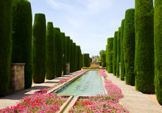 Gardens at the Alcazar in Cordoba, Spain Royalty Free Stock Images
