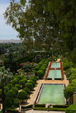Gardens at the Alcazar, Cordoba, Spain. Gardens at the Alcazar de los Reyes Cristianos from above, Cordoba, Spain Stock Image