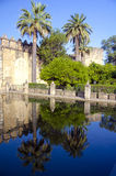 Gardens of Alcazar de los Reyes Cristianos Stock Photography