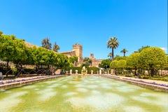 Gardens at the Alcazar de los Reyes Cristianos in Cordoba Stock Photo