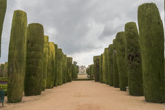 Gardens of Alcazar de los Reyes Cristianos in Cordoba, Spain.  Royalty Free Stock Photography