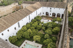 Gardens of Alcazar de los Reyes Cristianos in Cordoba, Spain.  Stock Photos