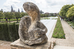 Gardens of Alcazar de los Reyes Cristianos in Cordoba, Spain Stock Photography