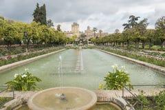 Gardens of Alcazar de los Reyes Cristianos in Cordoba, Spain Stock Image