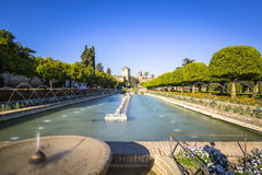 Gardens at the Alcazar de los Reyes Cristianos in Cordoba, Spain Stock Image