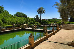 Gardens of Alcazar de los Reyes Cristianos, Cordoba, Spain. The place is declared UNESCO World Heritage Site. CORDOBA, SPAIN. A Picture of the Gardens of Alcazar Stock Photography