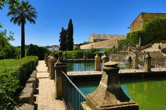 Gardens of Alcazar de los Reyes Cristianos, Cordoba, Spain. The place is declared UNESCO World Heritage Site. CORDOBA, SPAIN. A Picture of the Gardens of Alcazar Royalty Free Stock Images