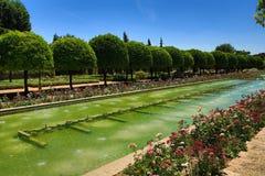 Gardens of Alcazar de los Reyes Cristianos, Cordoba, Spain. The place is declared UNESCO World Heritage Site. CORDOBA, SPAIN Stock Photos