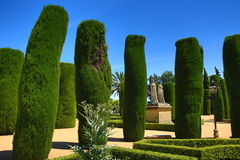 Gardens of Alcazar de los Reyes Cristianos, Cordoba, Spain. The place is declared UNESCO World Heritage Site. CORDOBA, SPAIN Royalty Free Stock Photos