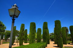 Gardens of Alcazar de los Reyes Cristianos, Cordoba, Spain. The place is declared UNESCO World Heritage Site. CORDOBA, SPAIN. A Picture of the Gardens of Alcazar Stock Image