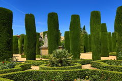 Gardens of Alcazar de los Reyes Cristianos, Cordoba, Spain. The place is declared UNESCO World Heritage Site. CORDOBA, SPAIN. A Picture of the Gardens of Alcazar Royalty Free Stock Photos
