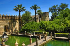 Gardens of Alcazar de los Reyes Cristianos, Cordoba, Spain. The place is declared UNESCO World Heritage Site. CORDOBA, SPAIN Royalty Free Stock Image