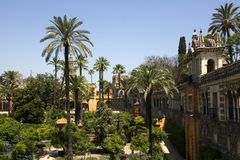 The Gardens of the Alcazar Palace - Seville Royalty Free Stock Image