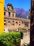 Gardens in Alcazar of Seville, Spain Stock Photography