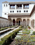 Gardens of Alhambra Royalty Free Stock Photography