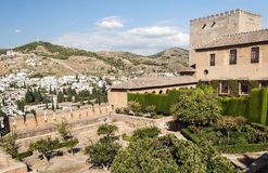 Gardens of Alhambra Royalty Free Stock Images