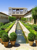 Gardens of Alhambra, Granada, Spain Stock Photography