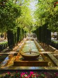 Gardens of Almudaina Palace in Palma of Majorca Stock Image