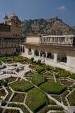 Gardens in Amber Fort near Jaipur Royalty Free Stock Image