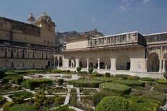 Gardens in Amber Fort near Jaipur Stock Images