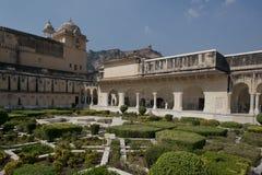Gardens in Amber Fort near Jaipur Stock Images