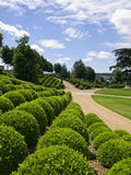 The Gardens of Amboise Castle Stock Photo