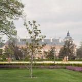Gardens of Aranjuez with palace Stock Photos