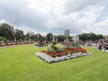 The gardens around Buckingham Palace, London. Buckingham Palace is the London residence and administrative headquarters of the reigning monarch of the United Royalty Free Stock Photos