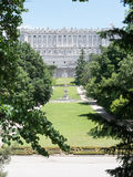 Gardens around the Royal Palace of Madrid, Spain Stock Photography